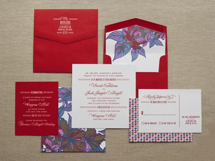 Tmx 1352213726991 HERRINGFLOR1 Thorofare wedding invitation