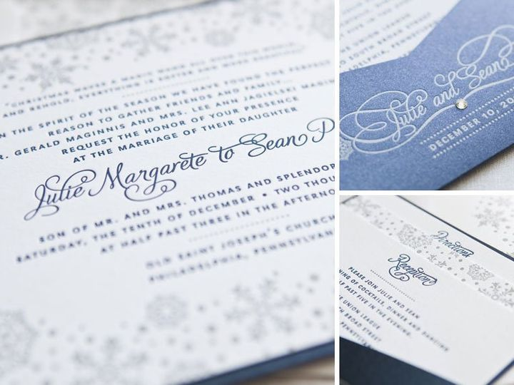 Tmx 1352213774423 JULIE2 Thorofare wedding invitation