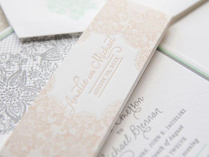 Tmx 1352213785823 LACE1 Thorofare wedding invitation