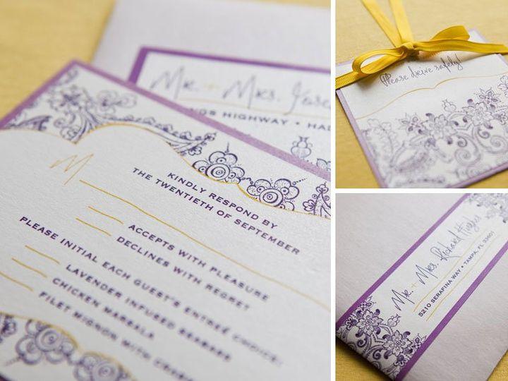 Tmx 1352213894070 RUBY2 Thorofare wedding invitation
