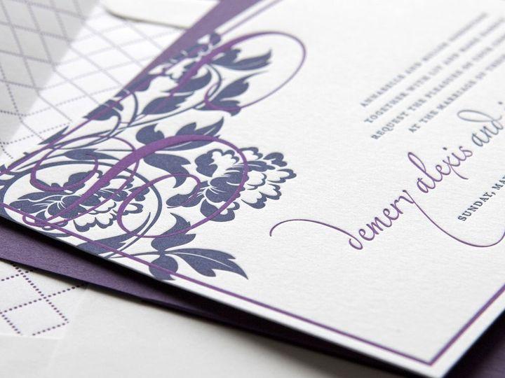 Tmx 1352214044964 TRENDYTRELLIS.1.zoom Thorofare wedding invitation