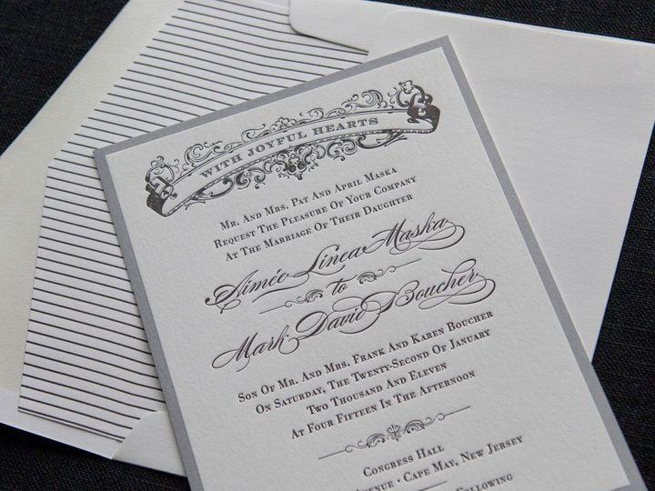 Tmx 1352214110876 VINTAGEFORMAL.4.zoom Thorofare wedding invitation