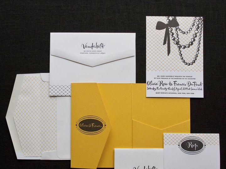 Tmx 1352214177724 HOLLYWOODGLAM.zoom Thorofare wedding invitation