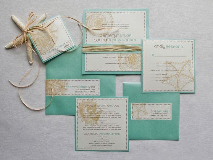 Tmx 1352214261760 BEACH1 Thorofare wedding invitation