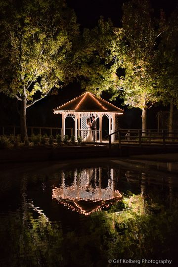 Gazebo with twinkly lights