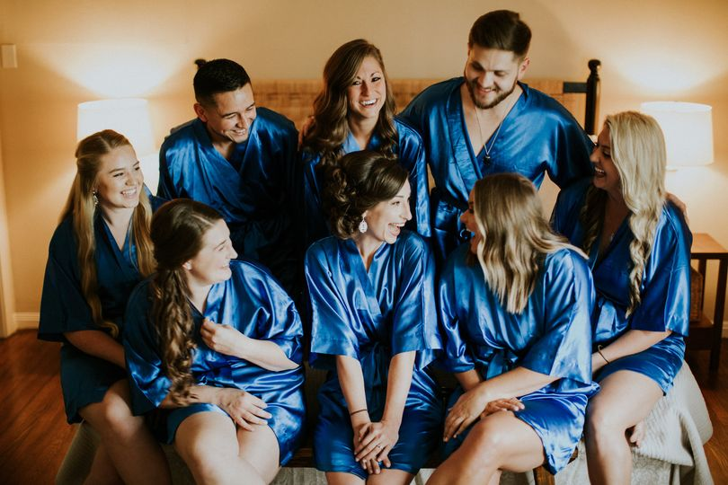 Bridal party in Orchard House