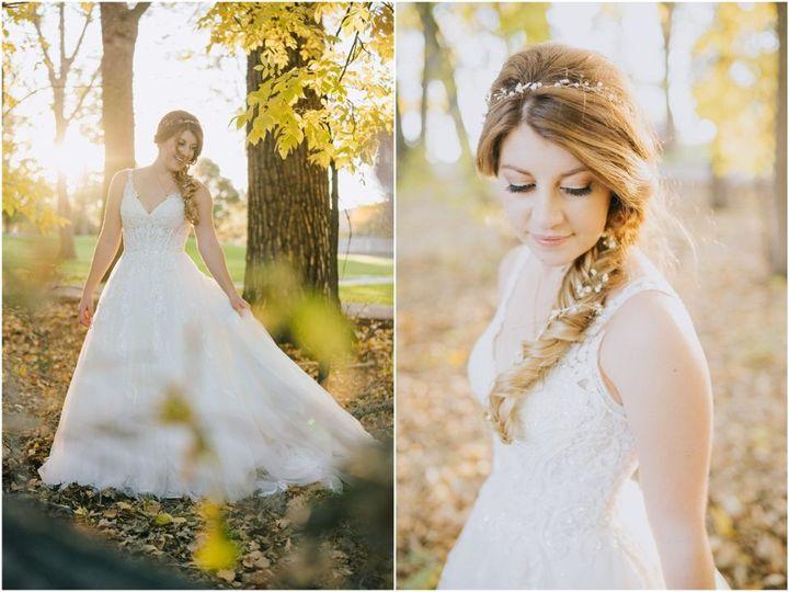 Lovely bridal braids