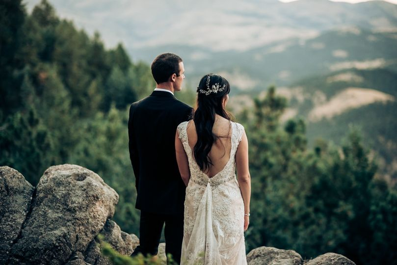 A mountain elopement