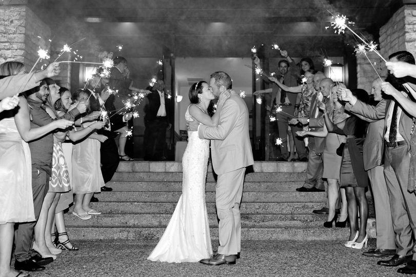 tiffanydamien sparkler exit kiss