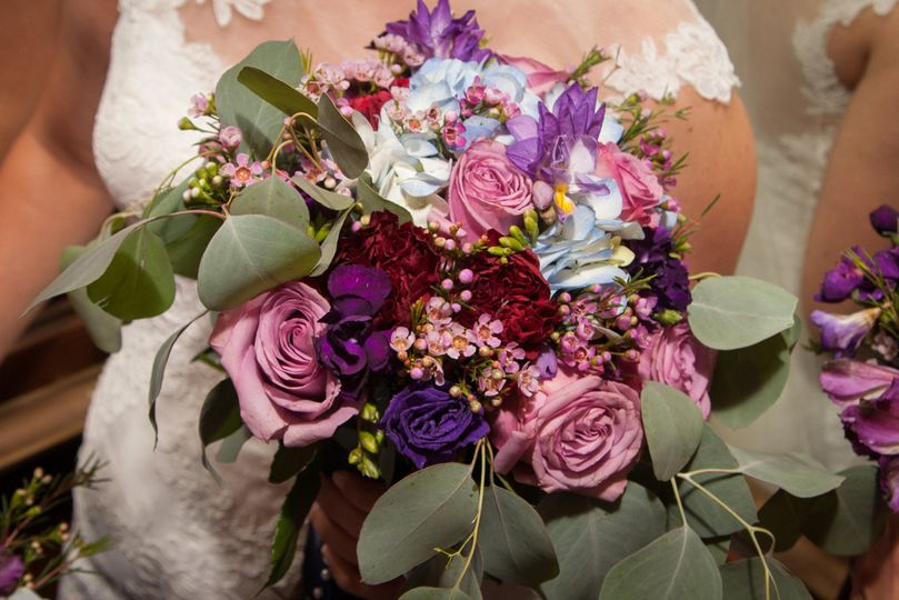 Pink and violet roses