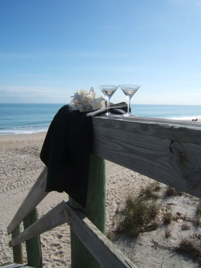 Private beach ceremony  performed by Robin G Patton, wedding officiant