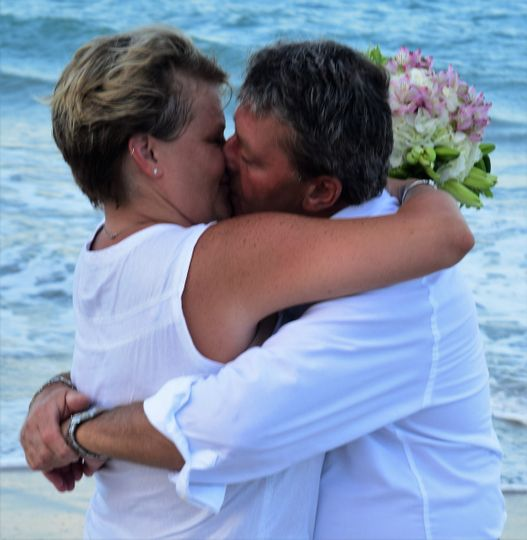 You may kiss your bride. Ceremony performed by Robin G Patton