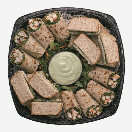 Cool Wrap and Chicken Salad Sandwich Tray  A combination of Grilled Wrap halves and our delicious...