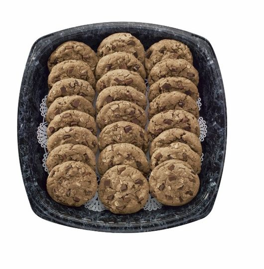 Chocolate Chunk Cookie Tray  Our large, warm gooey chocolate chunk cookies are baked fresh each day....