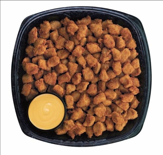 Chick-fil-A Nuggets Tray  Bite-size pieces of tender all-breast chicken meat served with your choice...