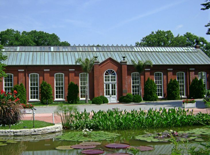 A view of The Piper Palm House from the lily ponds. The rental of The Piper Palm House includes...