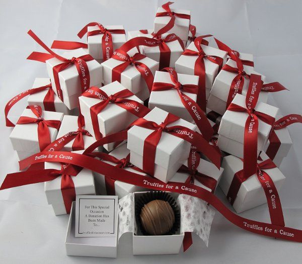 red wedding chocolate wedding favors