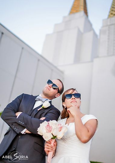 LDS Temple Wedding Abel Soria