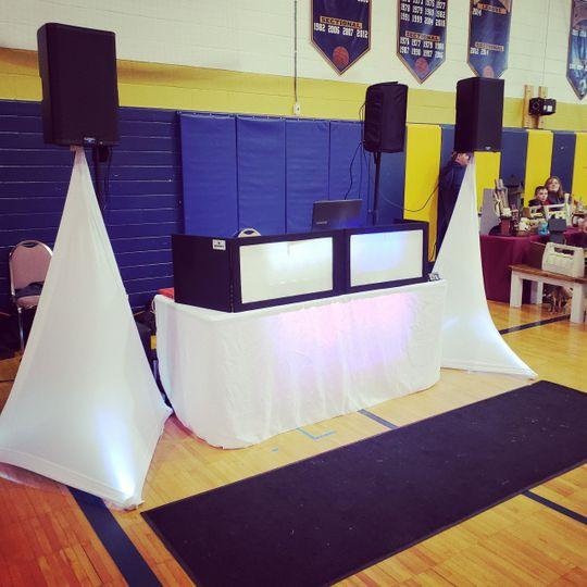 The wedding band setup