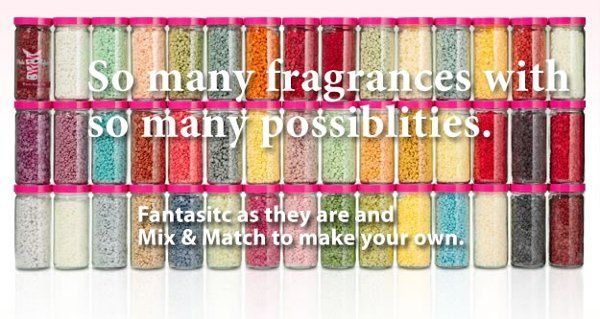 Sprinkles come in over 40 different fragrances and a variety of colors!