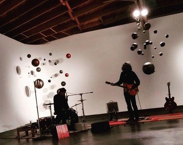 Musicians practicing