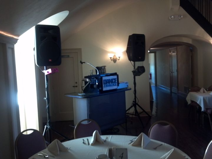 Reception and sound system set-up