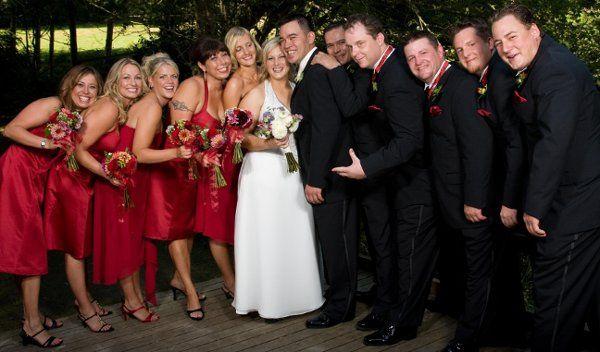 Tmx 1233937482171 MonaAndMike Weddingparty Bellingham wedding florist