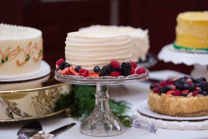 An array of wedding cakes from a local baker.