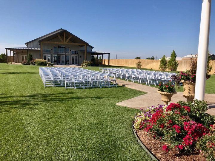 Outdoor ceremony view