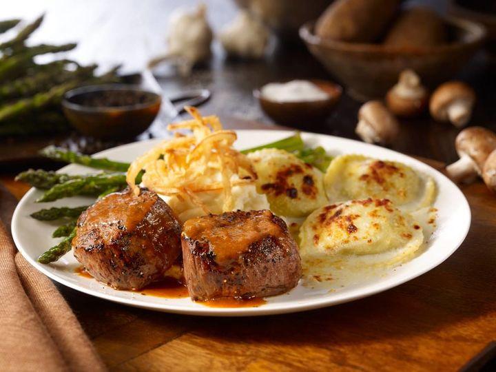 Steak and ravioli