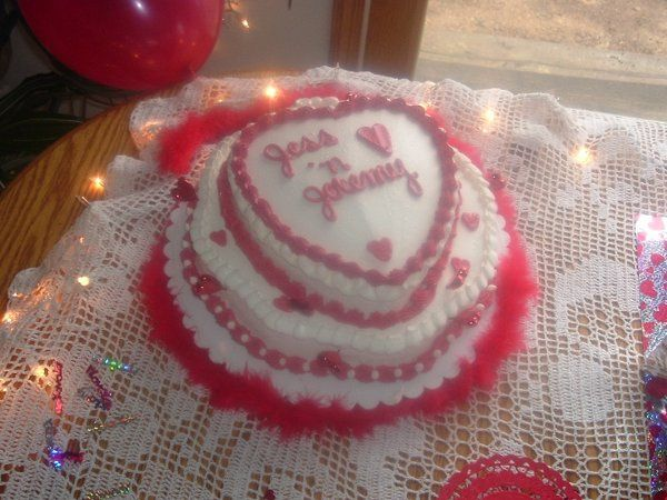 Heart shaped, buttercream icing, glitter