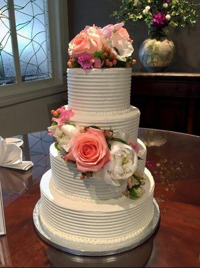 Spiral texture wedding cake