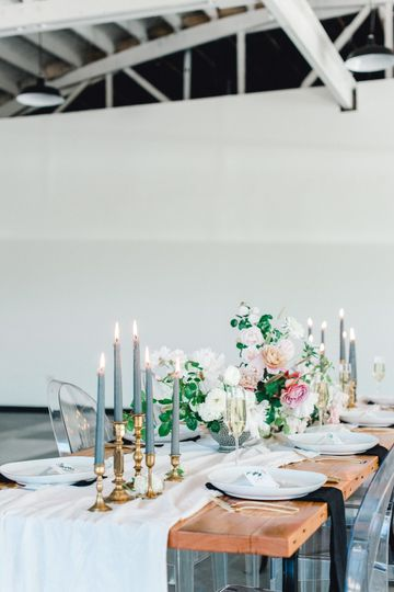 soft summer tablescape