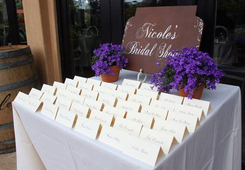 Place card table setting