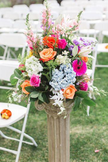 Empty Vase Floral Co Flowers Closter Nj Weddingwire