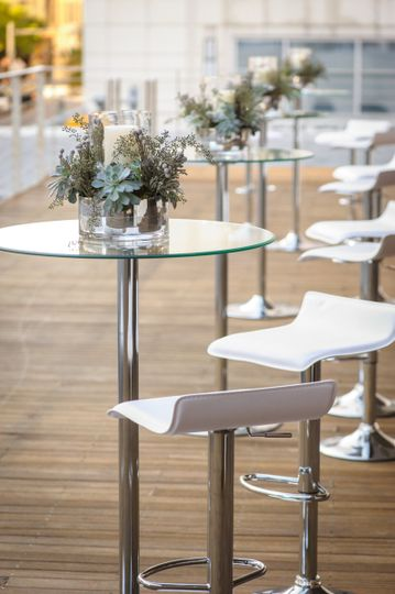 LED Cocktail Tables with Contempo Bar Stools