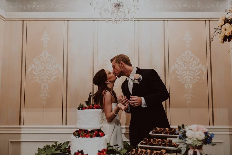 Kissing in the cake room