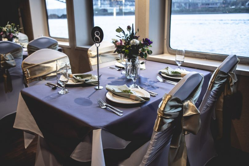 Navy blue table cloths