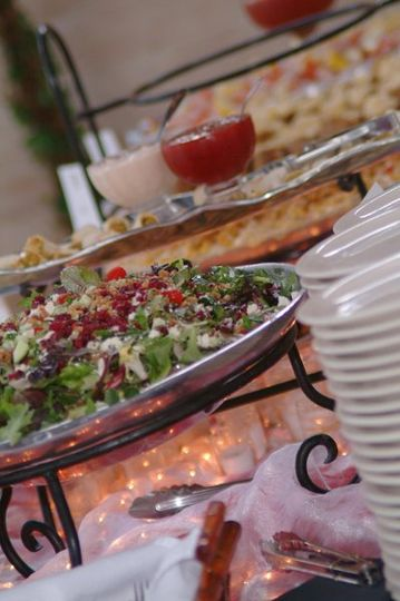 OUr Award winning Bella Salad to compliment any buffet.Photo by Kennison Photography