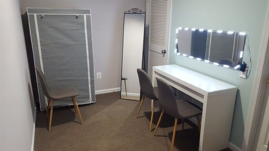 Private makeup area