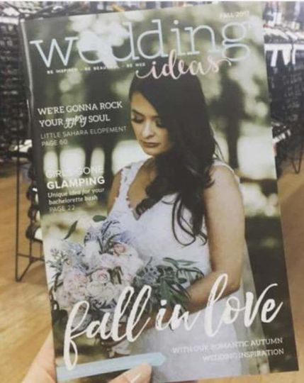 Our Bride made the cover.  Photo by Ashley Layton