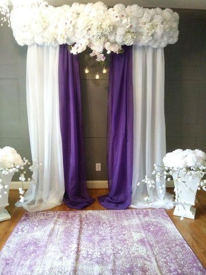 Purple Wedding Alter 10.13.18
