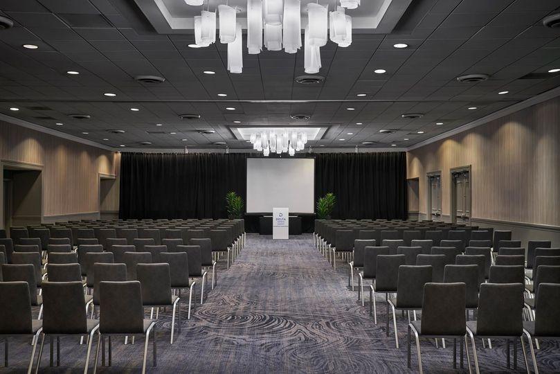 James River ballroom theater set-up