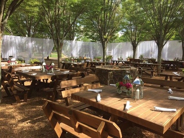 Casual Beer Garden for rehearsal dinners and more.
