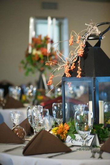 Lovely fall wedding tableware