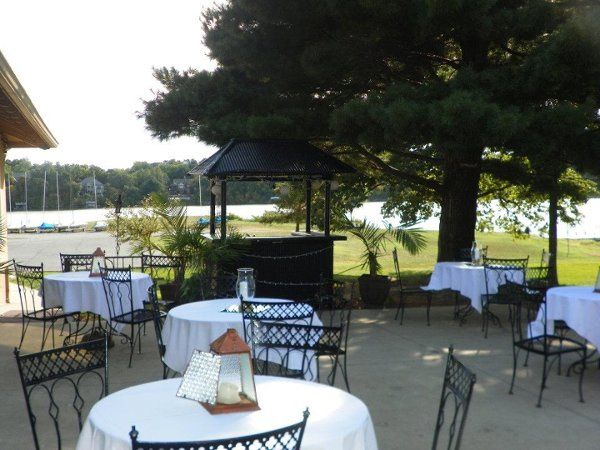 Our patio and tiki bar
