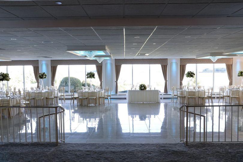 Light-filled ballroom