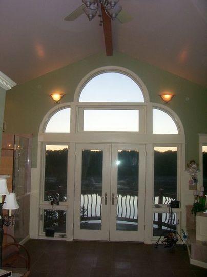 Windows on Lake Side of Honeymoon Suite