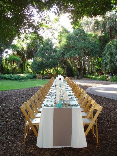 Kings Table Selby Botanical Gardens