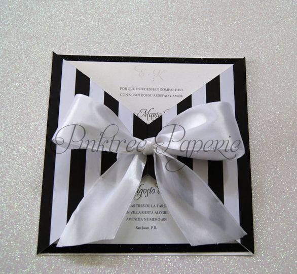 invitacion stripes